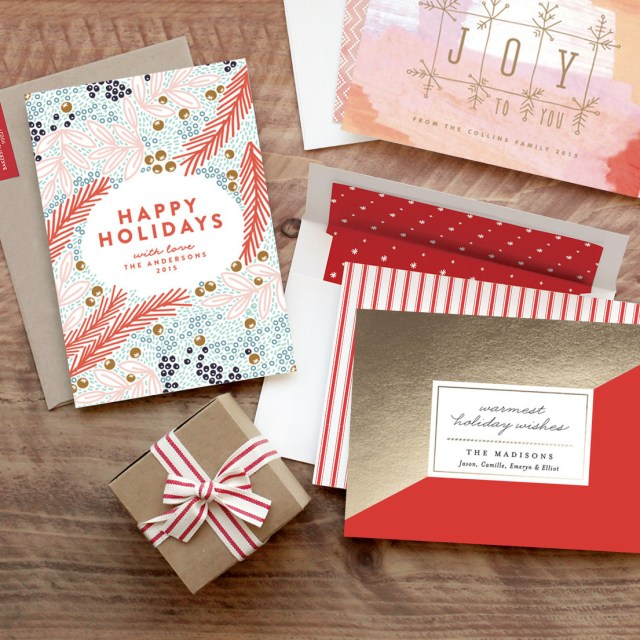 Gold foil Christmas Cards by Minted