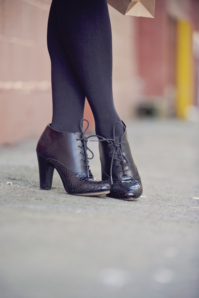 black lace up booties by Poppy Barley | Creative Wife & Joyful Worker