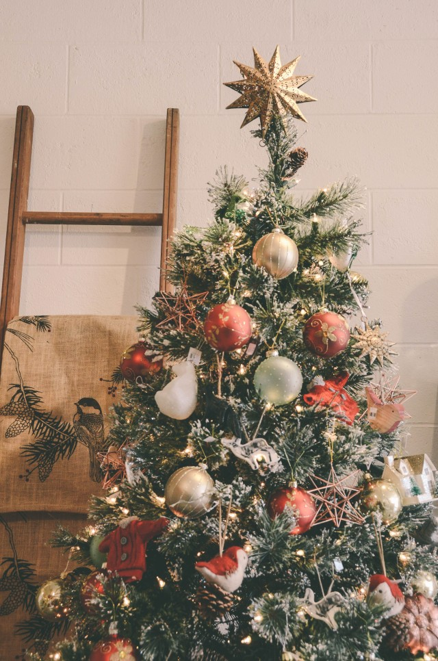 Christmas Tree decor at the Button Box Boutique