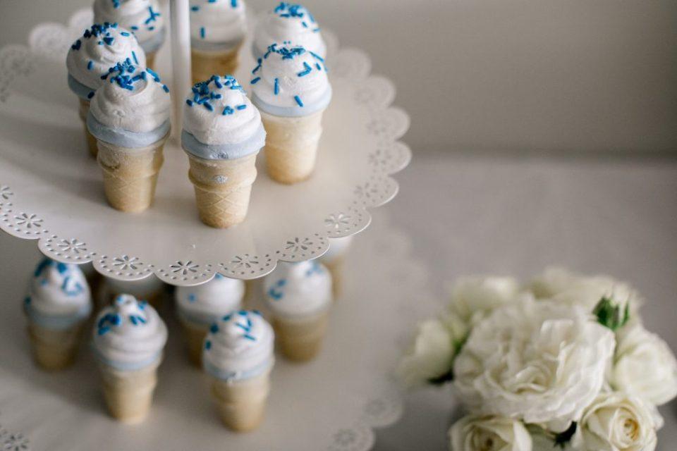 Icecream Themed Sweet Baby Shower | Marshmallow icecremam treats