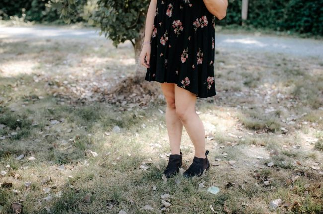 Fall Floral Dress | Dressy Casual Fashion