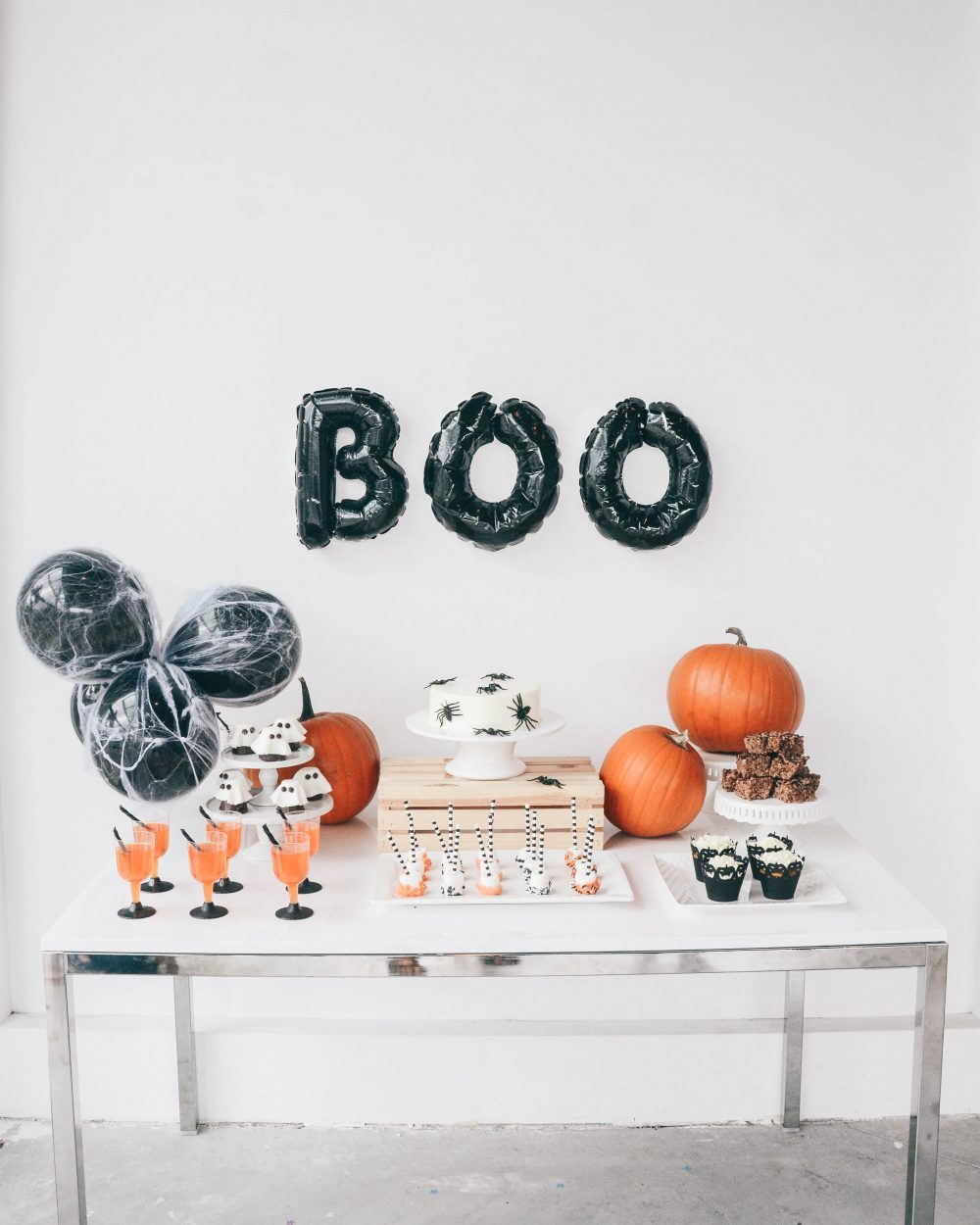 Halloween Themed Dessert Table Decor