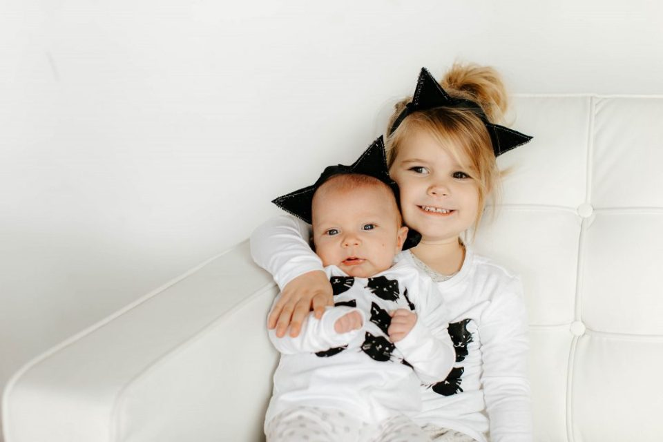 DIY Kitty Cat Ears at a Black White and Gold Kitty Cat Themed Birthday Party