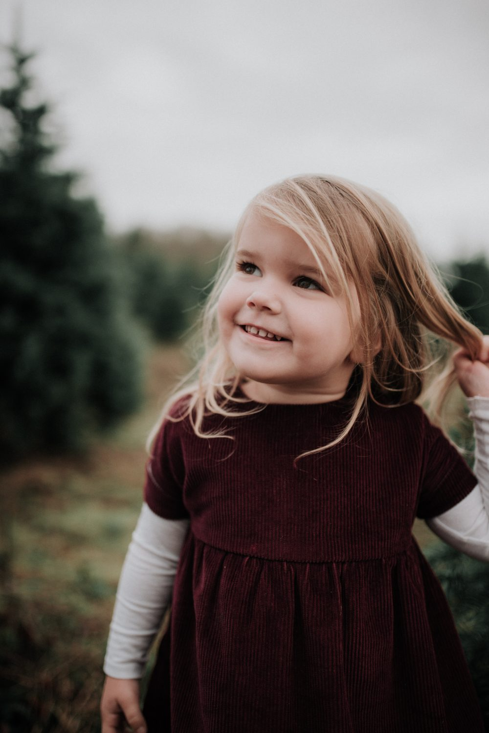 Little Girl Style for Family Christmas Photos