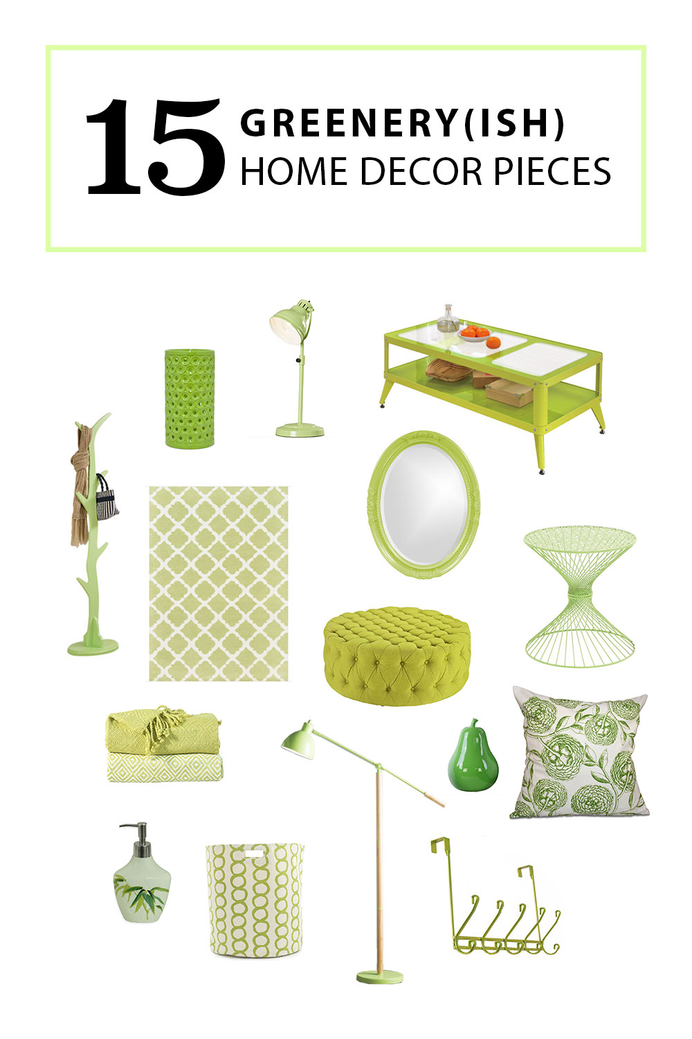 Greenery-ish Top Home Decor Picks | 2017 Pantone Colour of the Year
