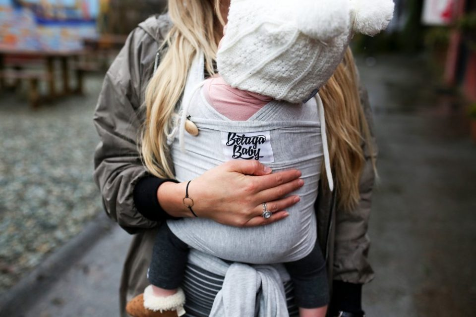 The One Baby Product I could not live without | Beluga Baby Wrap | Photo by Tamara Clark
