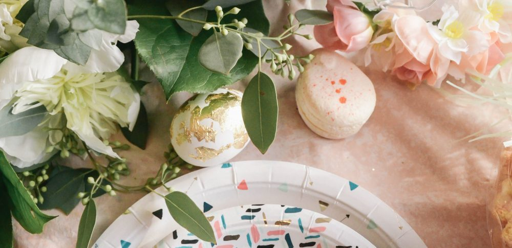 Kid's Geo Floral Easter Party Decor and DIY's for Spring