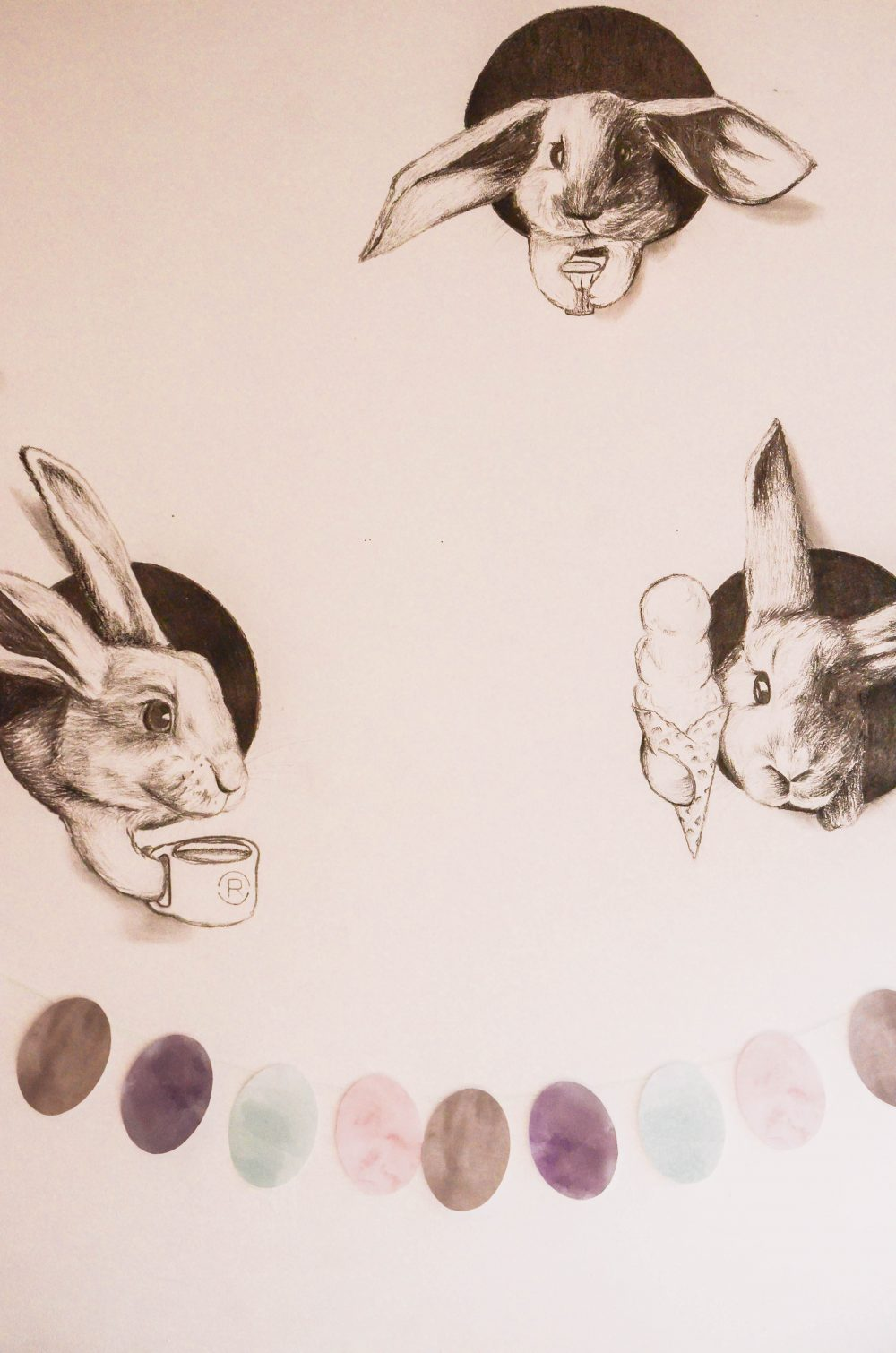 Watercolour Easter Egg Banner Free Printable