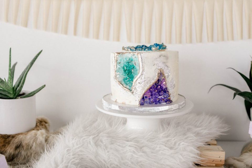 Gemstone Cake for our Little Gem Baby Shower