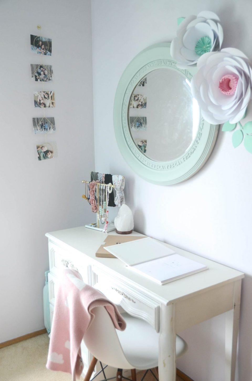 Geo Floral Themed Big Girl Bedroom