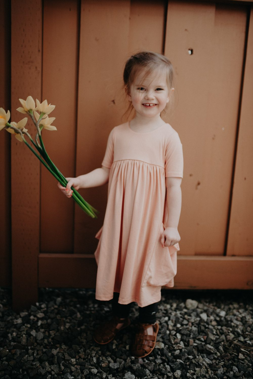 PInk Kids Dress by Remie Co. | Kids Daffodil Field Picnic