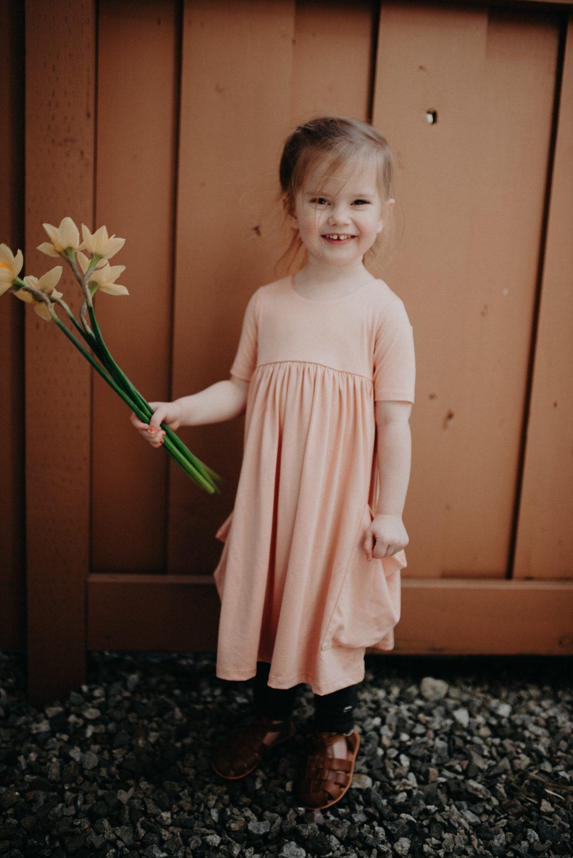 PInk Kids Dress by Remie Co. | Kids Daffodil Field Picnic