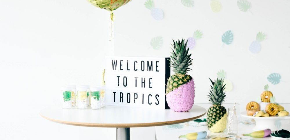Topical Summer Party | Pineapples and Palm Leaves