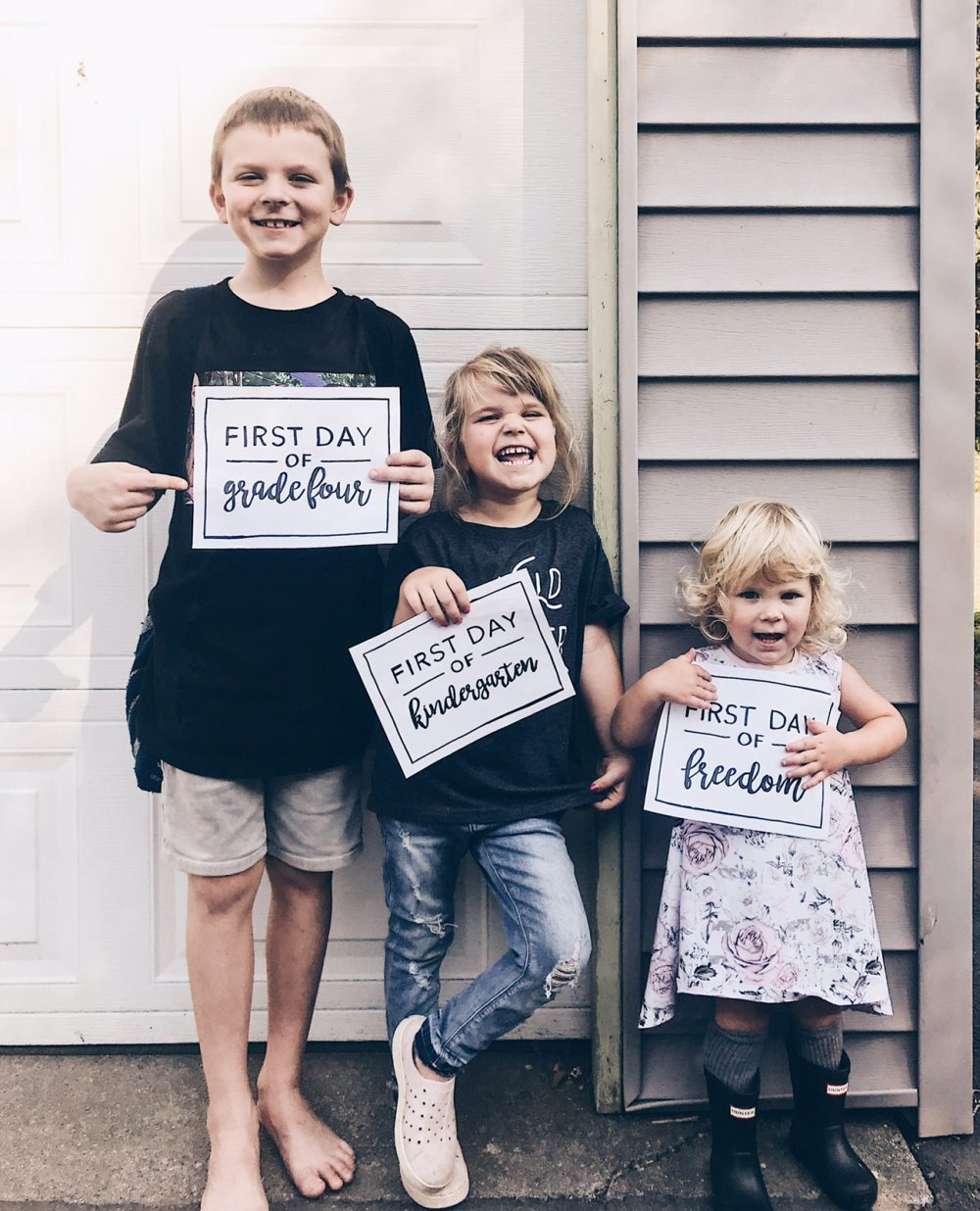back to school first day of free printables