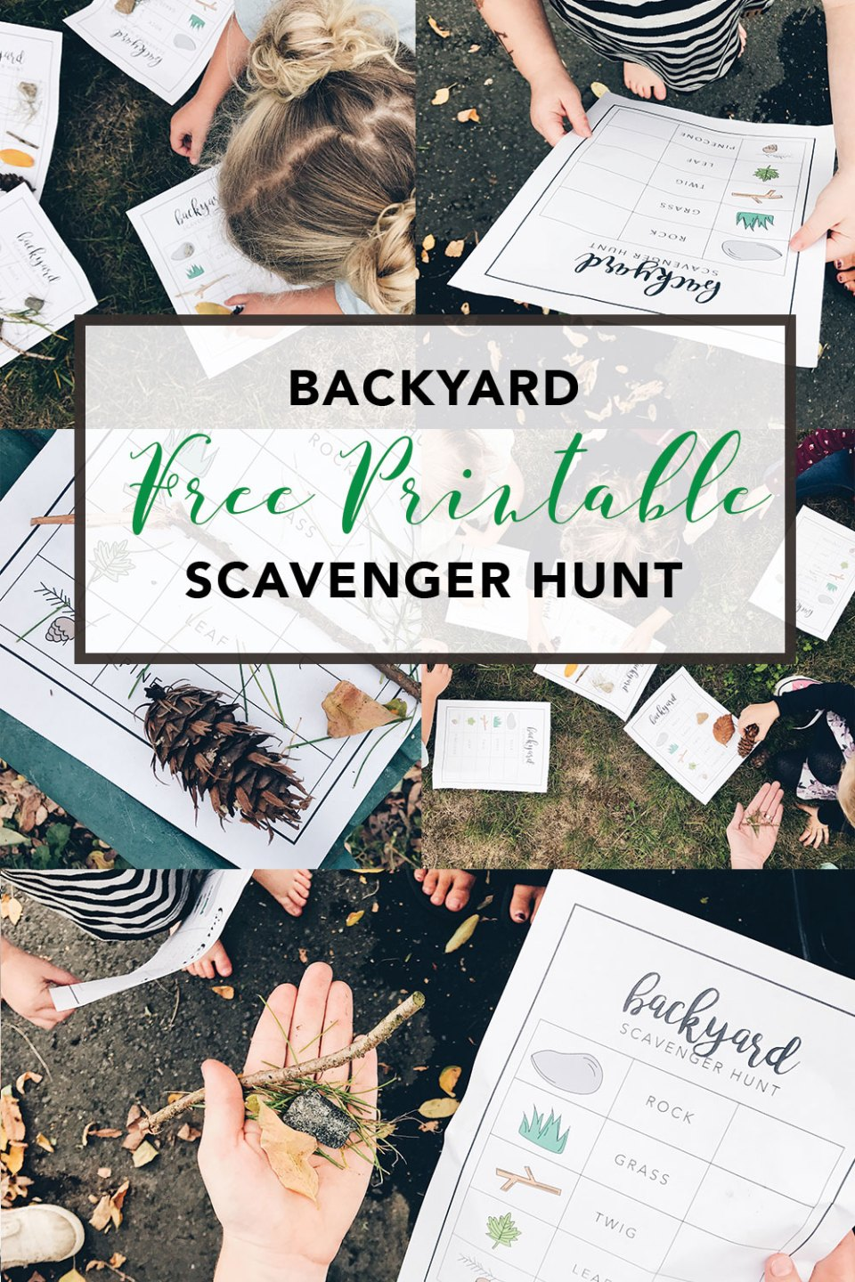 Backyard Scavenger Hunt Free Printable