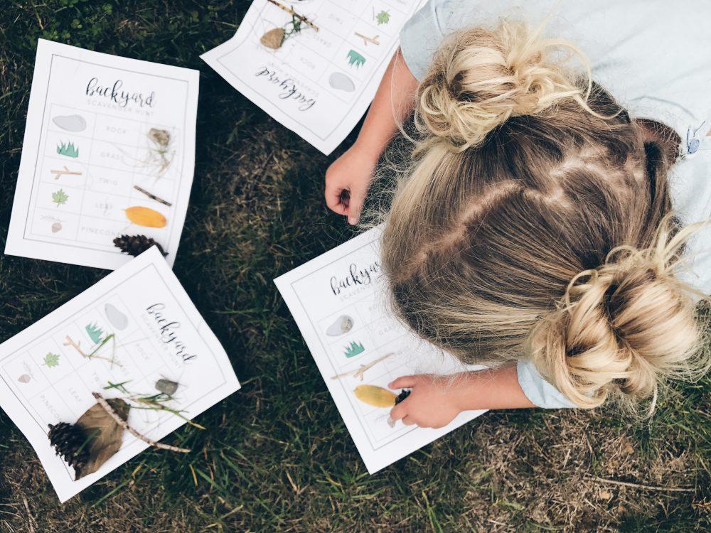 Free Printable: Woodland Forest Backyard Scavenger Hunt for Kids