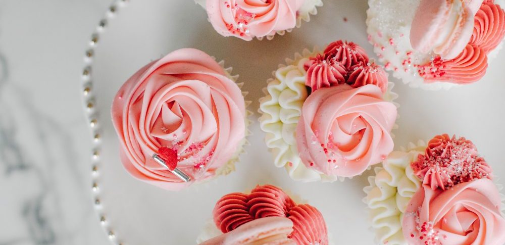 Rose Cupcakes for Valentine's Day by Vanilla Bean Bakery | Valentine's Themed Gift Ideas