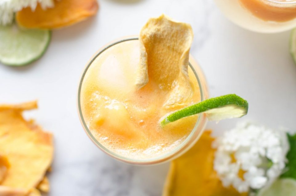 Non-Alcoholic Sparkling Mango Sluchie Drink Recipe using a SodaStream
