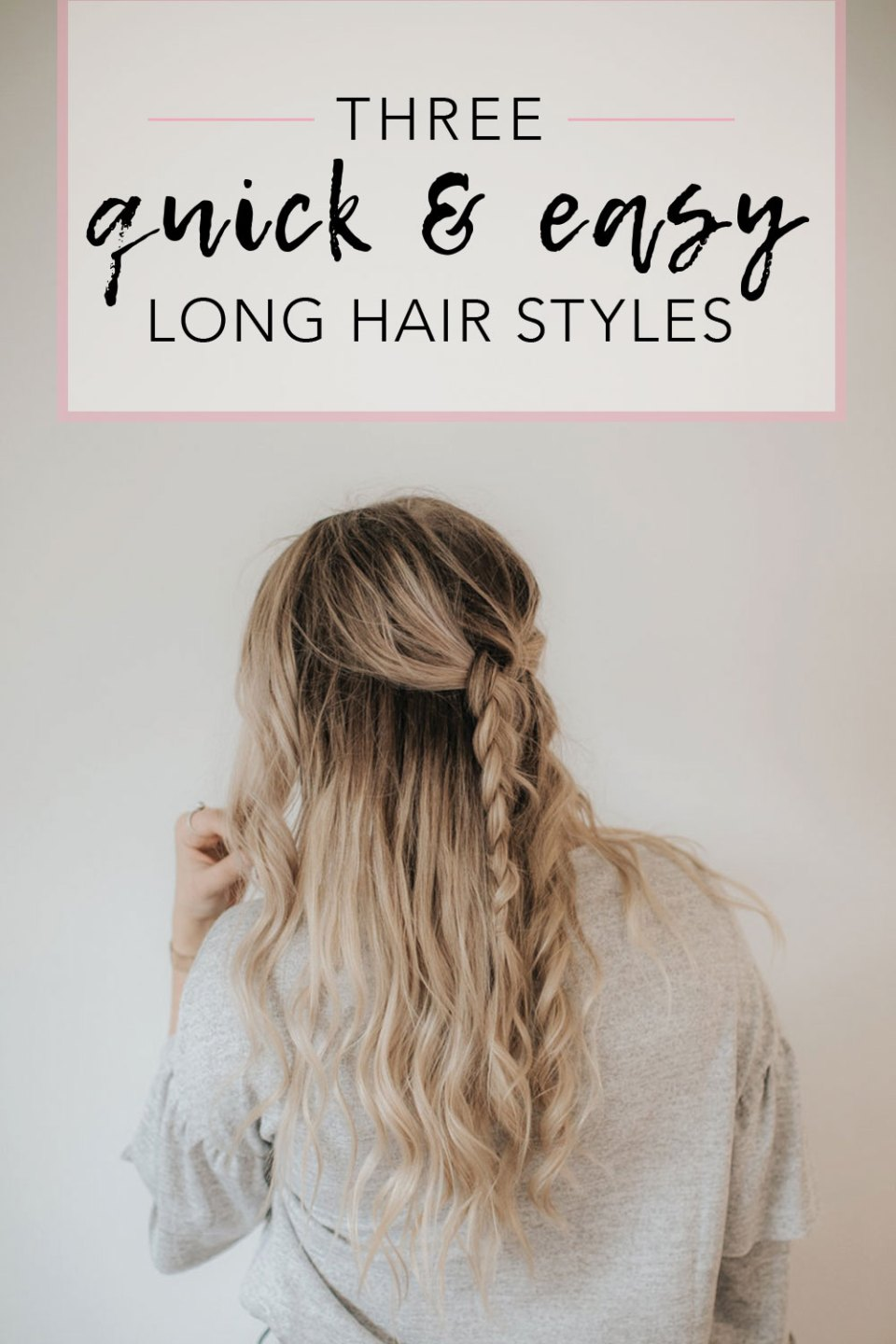 How to style long thick hair | 3 fast and easy long hairstyle ideas for thick hair