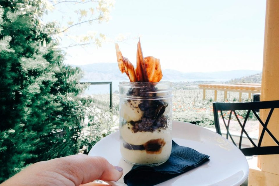 Dessert from Old Vines Restaurant at Quails Gate Winery in Kelowna BC