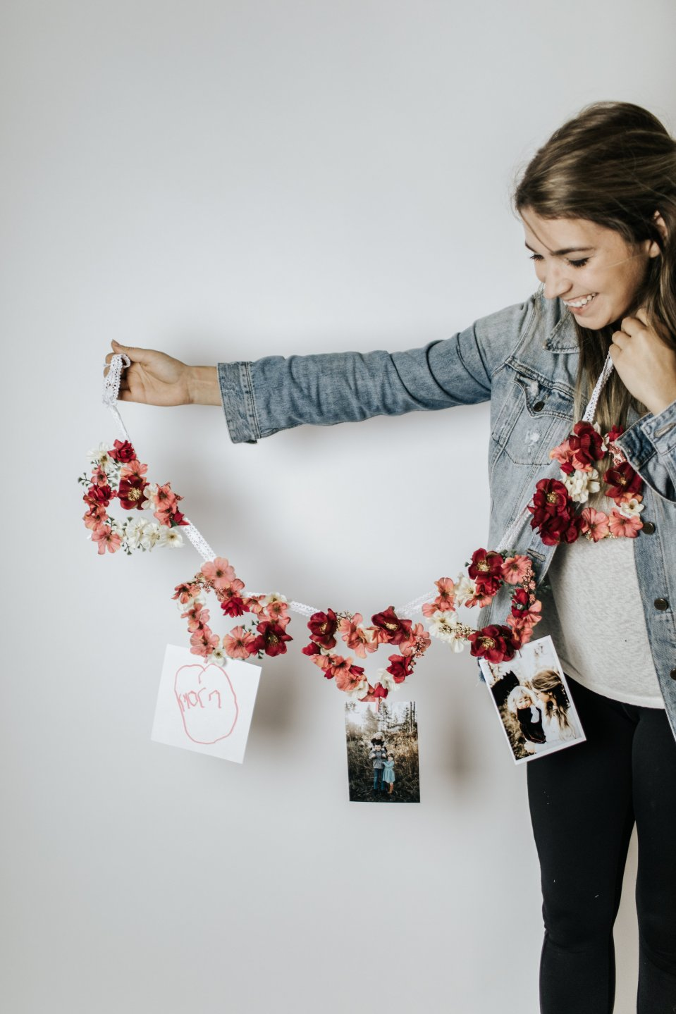How to Make a Floral Heart Garland