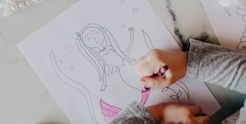 Mermaid Coloring Page Free Printable