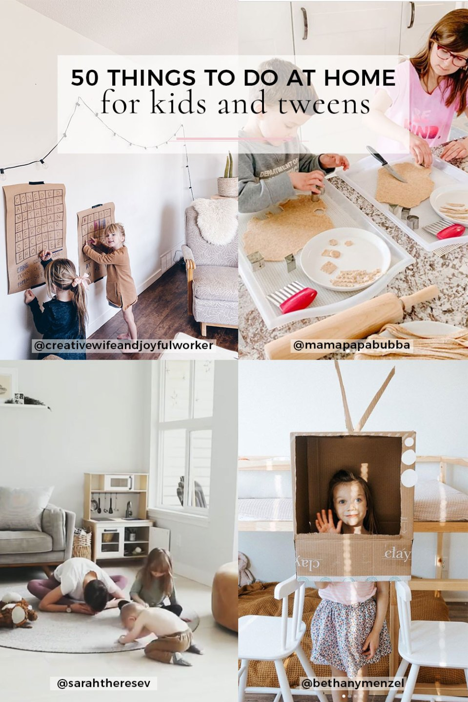50 Fun Activities to do at Home with Kids