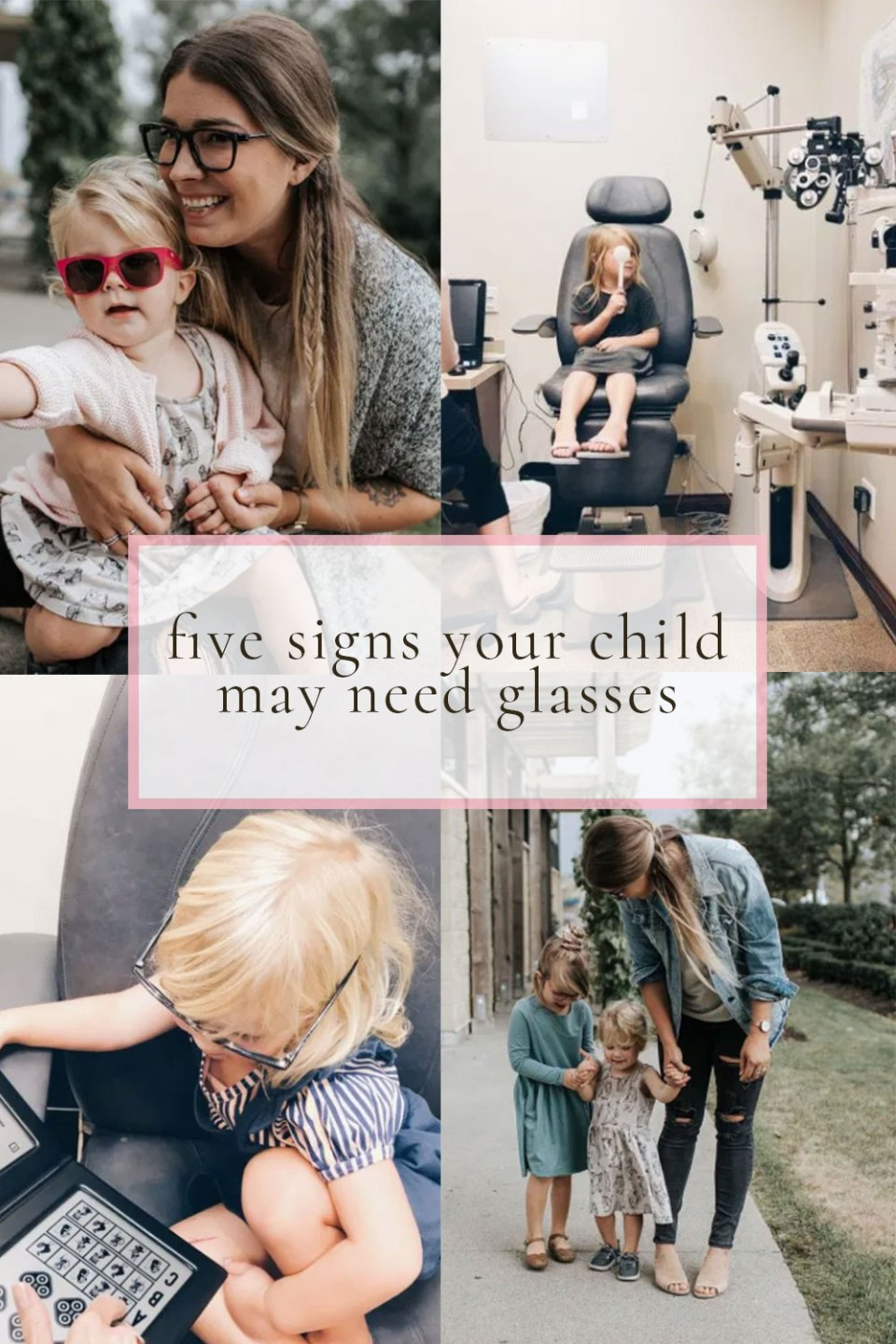 5 Signs your child may need glasse