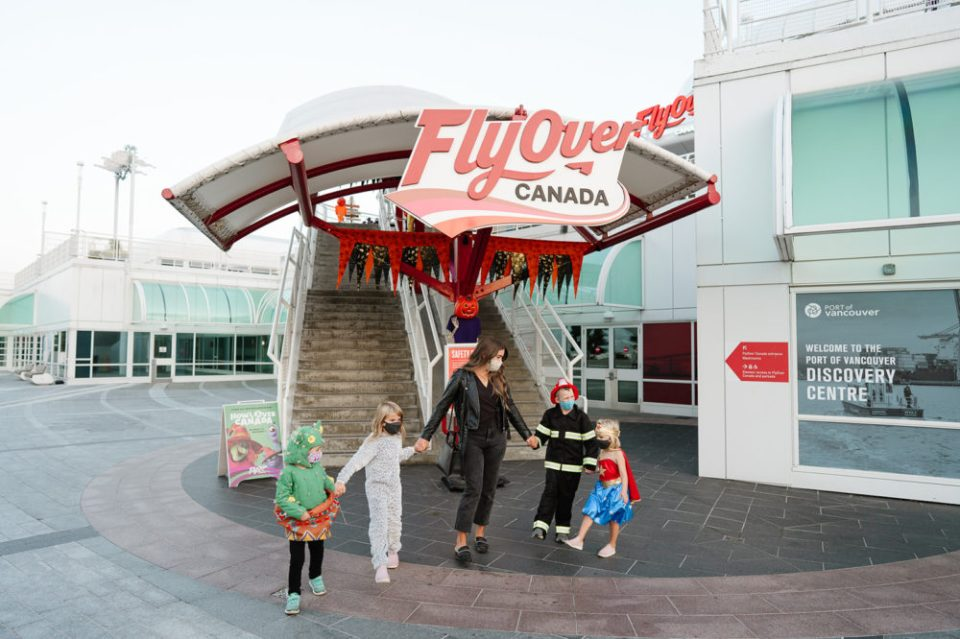Things to do with kids on hallween in Vancouver | Fly Over Canada Halloween Edition