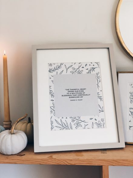 Free Thanksgiving Printable for Download with other Easy Thanksgiving Decor Ideas
