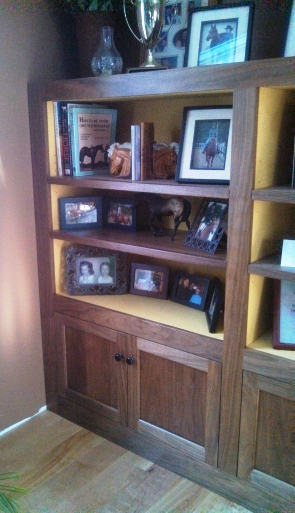 Bookcase and Cabinets in Walnut