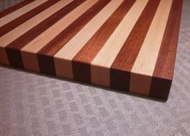 Mahogany - Maple Small Wooden Cutting Board