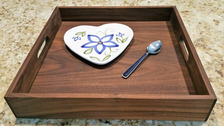 Simply Square 16 Serving Tray Walnut
