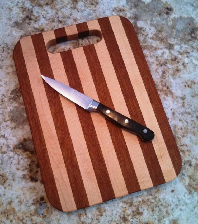 sandy cutting board
