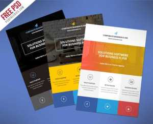 Flat Clean Corporate Business Flyer Free PSD