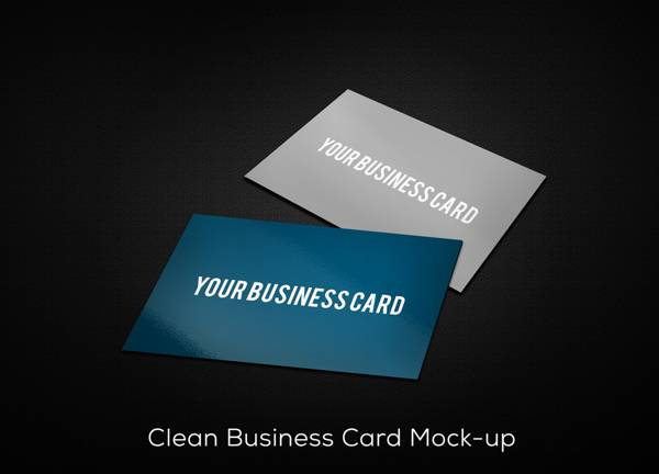 Clean Business Card Mock Up