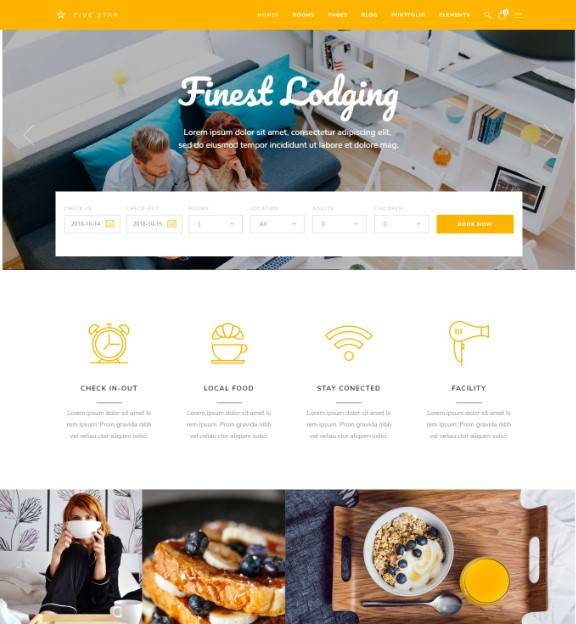 FiveStar - Theme for Hotels and Resort Booking