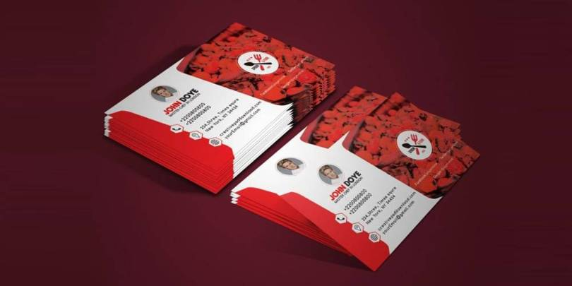 Chef Business Card Mockup PSD