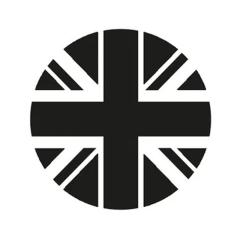 Sticker de phare «Union Jack» rond – Fumé