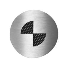 Badges graphiques BMW en inox brossé (la paire)