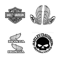 Stickers de réservoir «LOGO DE MARQUE COMPLEXE» moto