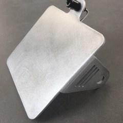 Support de plaque latéral CG en aluminium brossé