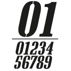 Stickers numéro de plaque ovale