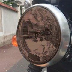Sticker Fumé pour optique de phare ronde Moto