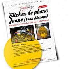 Film phare jaune pour Triumph Bonneville T120 / Thruxton 1200 / Street Twin