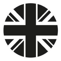 Sticker de phare (rond) GB fumé