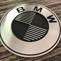 Badges BMW fraisés – 70 mm