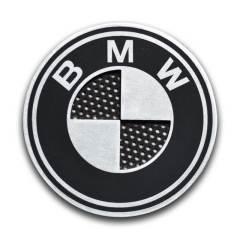 Badges BMW avec grille en aluminium – 70mm (la paire)