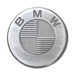 Badges BMW en aluminium fraisé – 70 mm (la paire)