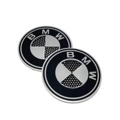 Badges BMW avec grille en aluminium – 45mm (la paire)
